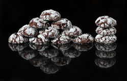 Black Forest Crinkle Cookies Royalty Free Stock Photo