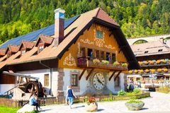 Black Forest Cuckoo Clock village and shop stock photos