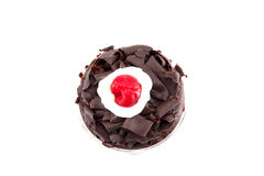 Black forest cup cake. Isolated on white background Royalty Free Stock Photos