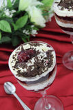 Black forest dessert cake Stock Photos