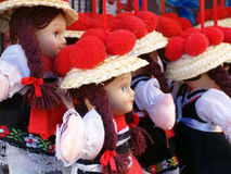 Black Forest Dolls. In Traditional Dress royalty free stock image