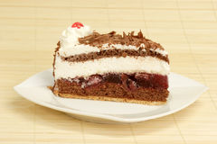 Black Forest gateau cake Stock Photo