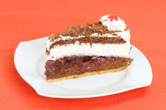 Black Forest gateau cake Stock Image
