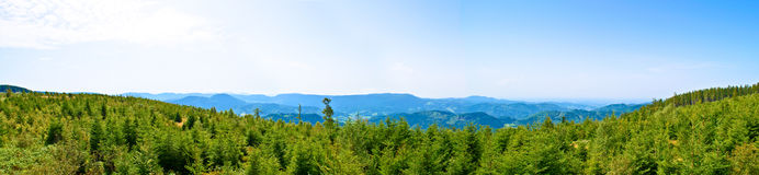 Black forest Germany. Large wide view panoramic on the mountains of the black forest in Germany Stock Photography