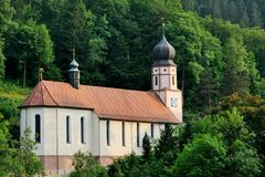 Black Forest, Germany. A quaint church nestled in the hills in the Black Forest in Germany Stock Images