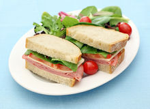 Black forest ham sandwich Stock Images