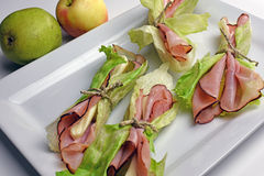 Black Forest Ham Wraps Stock Images