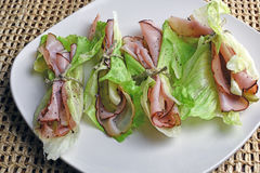 Black Forest Ham Wraps Royalty Free Stock Images
