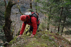 Black Forest hiker Stock Images