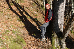 Black Forest hiker Royalty Free Stock Image