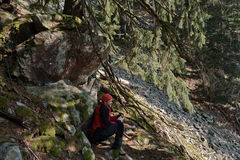Black Forest hiker Stock Photography