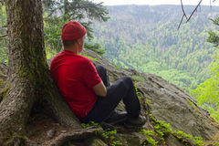 Black Forest hiker Stock Image
