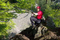 Black Forest hiker Royalty Free Stock Images