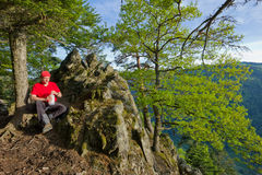Black Forest hiker Royalty Free Stock Photography