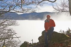 Black Forest Hiker in autumn Stock Photos