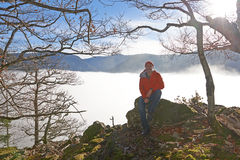 Black Forest Hiker in autumn Royalty Free Stock Photos