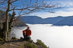 Black Forest Hiker in autumn Stock Photo