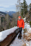 Black Forest Hiker in autumn Royalty Free Stock Images
