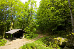 Black Forest hiking hut Stock Photography