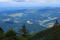 Black Forest landscape panoramic view  Stock Photography