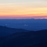Black forest landscape at sunset Stock Photography