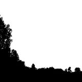 Black forest silhouette. Isolated on white background. Vector illustration for your design Royalty Free Stock Photography