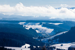 Black Forest valley town landscape Germany Europe Stock Images