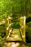Black Forest Wooden Bridge Stock Photography