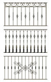 Black forged decorative lattice Stock Image