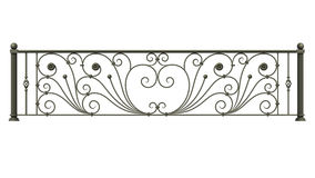 Black forged decorative lattice Royalty Free Stock Images