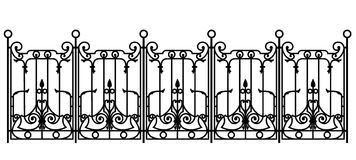 Black forged fence Royalty Free Stock Photos