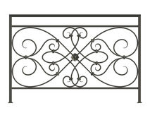 Black forged lattice  Stock Photo