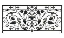 Black forged lattice Stock Images