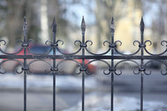 Black forged lattice fence Royalty Free Stock Photo