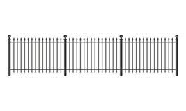 Black forged lattice fence Stock Photos