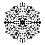 Black Forged Round Ornament Royalty Free Stock Photos