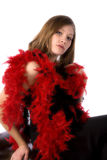 Black formal red boa Royalty Free Stock Images