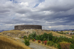 Black Fort. Old russian fortress in Gyumri Stock Photos
