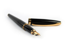 Black fountain pen isolated Royalty Free Stock Photography