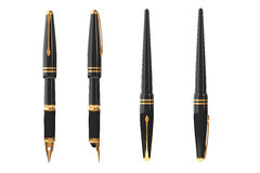 Black Fountain Writing Pen. 3d Rendering Royalty Free Stock Photos