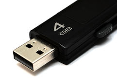 Pen drive. Black four gb usb pendrive Stock Photos
