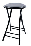 Black Four Legged Stool Over White Stock Image