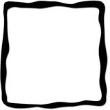 Black frame Stock Images