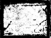 Black frame. Black grungy frame - abstract digital illustration stock illustration