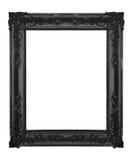 Black frame. Vintage black ornate frame isolatedo on white stock photo
