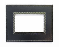 Black frame. Simple black picture frame with copy space Royalty Free Stock Images
