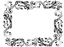 Black frame. Black floral and swirly picture frame Royalty Free Stock Image