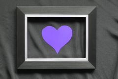 Black frame on a black background, near the heart. Flatly stock images