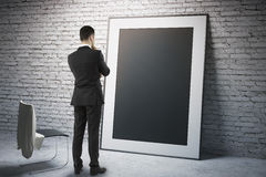 Black frame with businessman Royalty Free Stock Photography