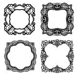 Black frame collection Royalty Free Stock Photo
